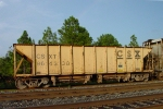 CSX 964338, a ballast hopper with a load limit of 199,900 LBS and a maximum loaded weight of 263,000 LBS,