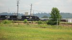 NS 3351 and 2771 head down the yard to assemble a train