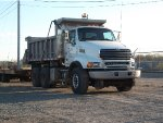 CN MOW dump truck
