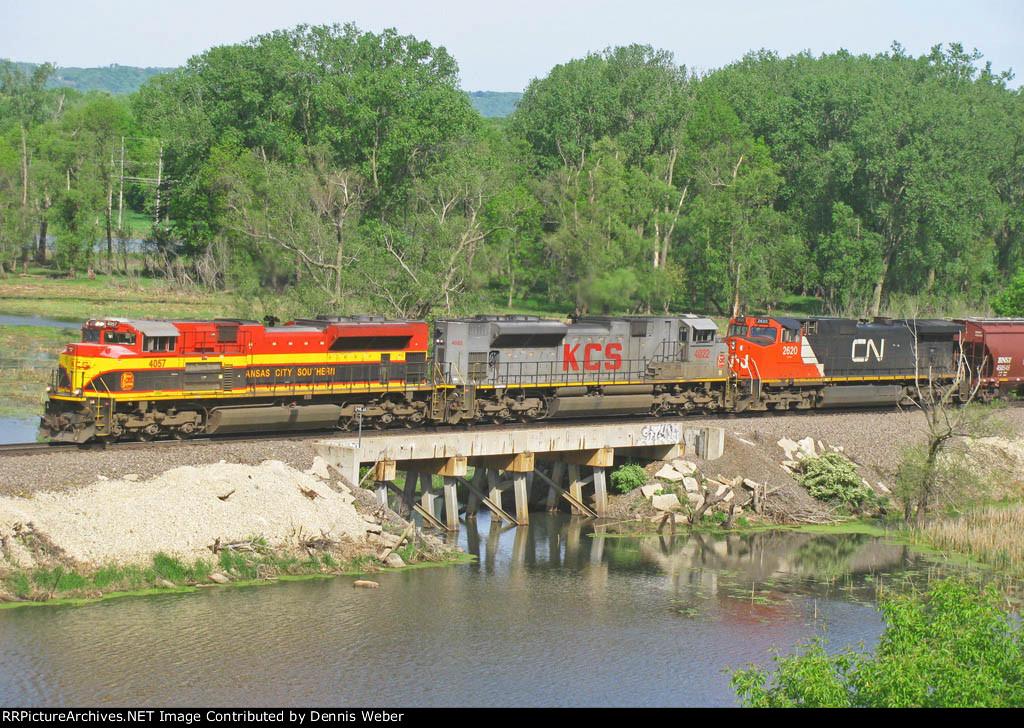 KCS  4057,  BNSF's   Aurora   Sub.
