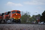 BNSF 6700 heads eastward pulling a Z-Train towards Winslow, Az.