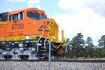 BNSF 6700 close in shot of the cab as she passes me by Leading a Eastbound Z-Train.