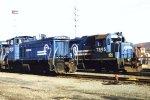 CR SW1500 9521 & GP38 7895