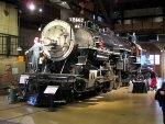SP #2467 in the roundhouse