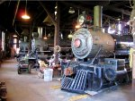 In the roundhouse at Railtown 1897
