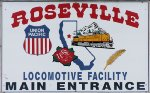 Locomotive facility sign