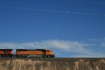 BNSF 9973 against the big NM sky.