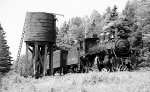 CP 4-4-0 AT THE WATER TANK