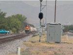 BNSF 7699 leads an EB tanker train at 9:59am