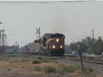 UP 7345 leads a WB autorack/doublestack (IMNLB) at 9:41am