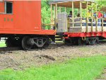EJ&E Caboose And Katy Outdoor Car Derailed