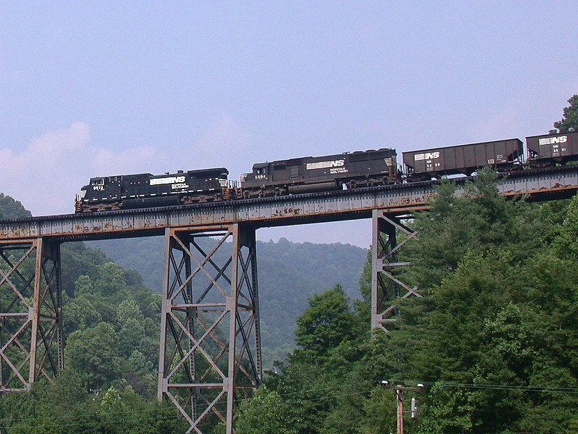 NB coal train with 192 empties