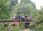 NS 9573 under what is left of the catenaries from the Virginian era