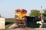 Westbound KCS Grain Crossing Hwy 52