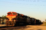 Westbound KCS Grain with Her Nose Shining Bright