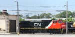 CN 2191, painted by Quality Rail - has the white stripe on this side to the roofline