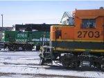 BNSF GP39-2 2703 and BNSF GP39E 2761