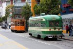 Italian and PCC cars across from Fishermans's Wharf