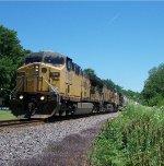 UP 7010 westbound UP empty grain train