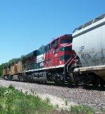 FXE 4695 on westbound UP empty grain train