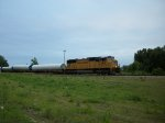 UP 4165 westbound UP special windturbine train