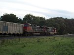 CN 2614 on westbound UP empty coal train