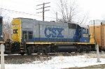 CSX 1535 on NB local autorack