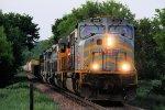 Westbound KCS Freight Decending the Steep Grade