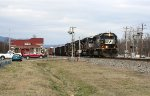 NS SB freight going by the depot