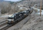 SB loaded coal train with 2 more in the back