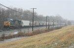 CSX 5303 solo with the empty grain train