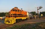 GSWR 1702 backing into the siding