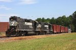 NS 5166 leads the local job into Asheboro in classic Southern style with the long hood forward.