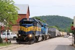 Northbound ICE Freight Does a Little Street Running
