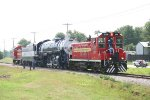 SLSF 4500 is pushed and pulled by Tulsa Sapulpa Union Railway switchers