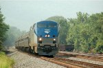 Amtrak P42 12 leads the eastbound Pennsylvanian
