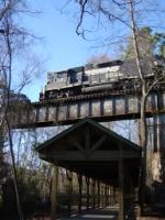 NS 5131 crosses over Cayce riverwalk