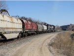 B55 heads into CP437 with cars for Elkhart