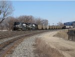 552 heads west through CP437 with coal loads for Wisconsin Electric