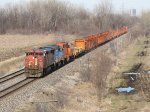 CN, GTW and EJ&E power heads for Markham with an empty rail train