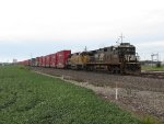NS 8799 & UP 9213 head east with 26N
