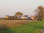Q113 shoves back towards the North Baltimore yard tracks