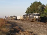 Roadrailers and general freight wait under the morning sun