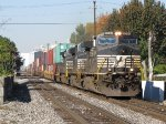234 heads east on track 1 with container traffic