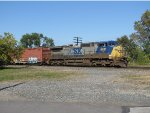 Heading straight south through the junction, CSX 9031 makes track speed with Q637-08