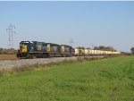 CSX 8663 leads K919-03 west before turning south towards Carey