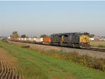 CSX 4595 rolls across rural Ohio leading Q016-09