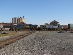 CSX 832 & 7361 roll over the diamond with Q147