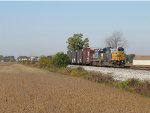 CSX 8750 & 8621 slowly pick up speed with Q342