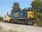 CSX 6076 sits tied down with the local caboose for the weekend